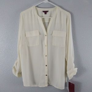 212 Collection Cream Blouse